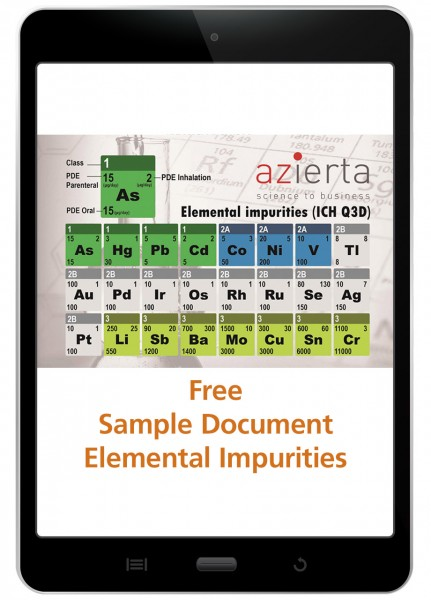 Elemental Impurities Risk Assessment - Sample Document