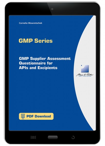 GMP Supplier Assessment Questionnaire
